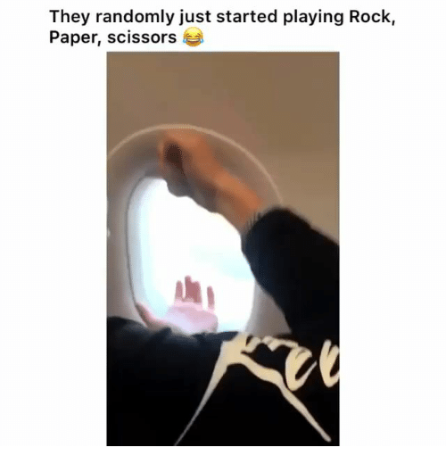Rock, Paper, and They: They randomly just started playing Rock,  Paper, scissors