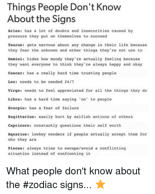 Things People Don't Know About the Signs Ariest Has a Lot of Doubts