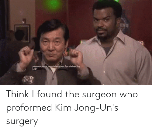 Found The: Think I found the surgeon who proformed Kim Jong-Un's surgery