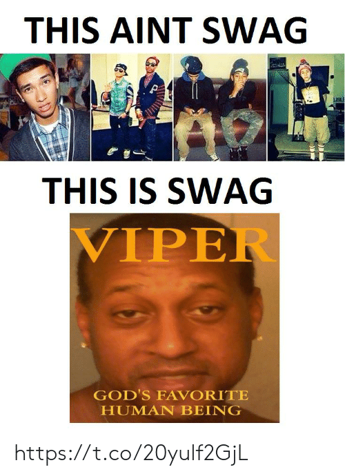 swag: THIS AINT SWAG  THIS IS SWAG  VIPER  GOD'S FAVORITE  HUMAN BEING https://t.co/20yulf2GjL