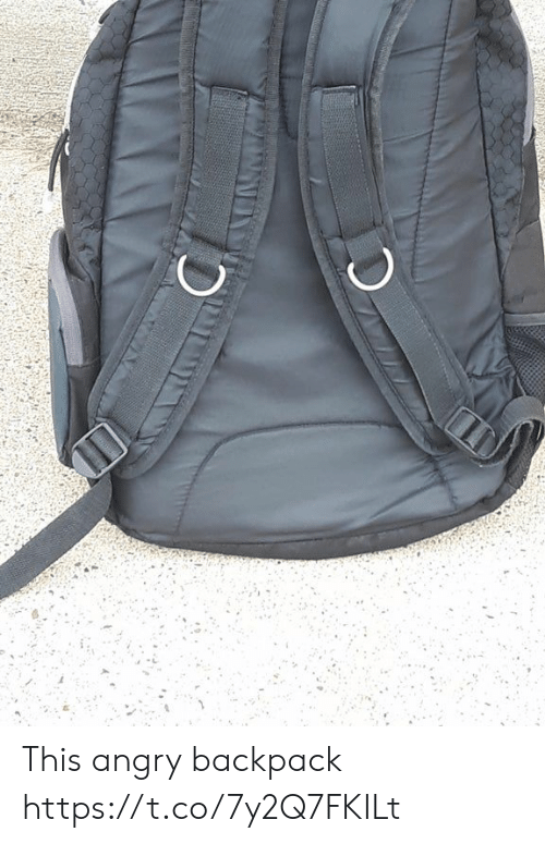 Angry, Faces-In-Things, and This: This angry backpack https://t.co/7y2Q7FKILt
