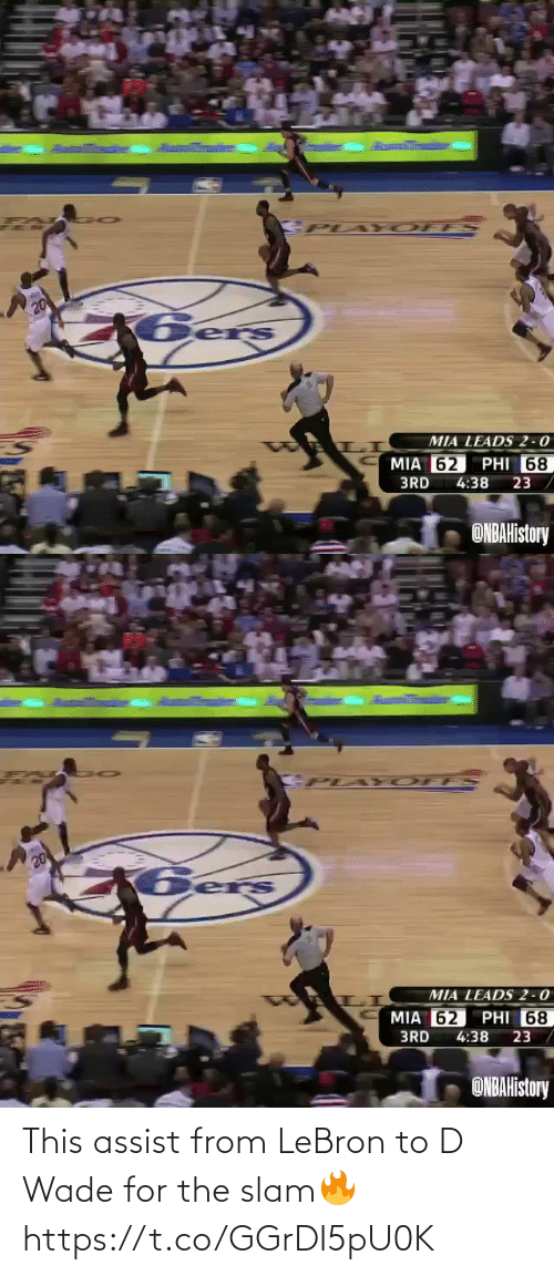 Assist: This assist from LeBron to D Wade for the slam🔥 https://t.co/GGrDI5pU0K