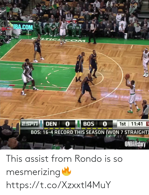 Assist: This assist from Rondo is so mesmerizing🔥 https://t.co/Xzxxtl4MuY