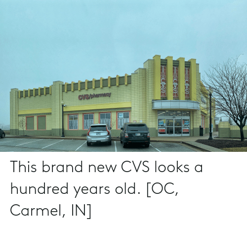 CVS: This brand new CVS looks a hundred years old. [OC, Carmel, IN]