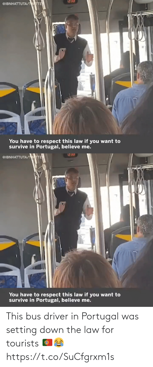soccer: This bus driver in Portugal was setting down the law for tourists 🇵🇹😂 https://t.co/SuCfgrxm1s