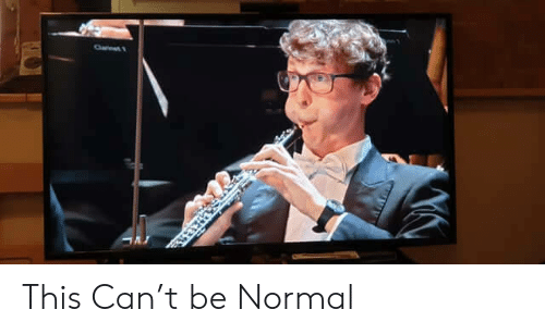 Be Normal: This Can't be Normal