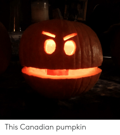 Canadian: This Canadian pumpkin