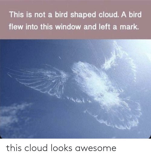 Awesome: this cloud looks awesome