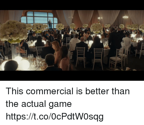 Football, Nfl, and Sports: This commercial is better than the actual game https://t.co/0cPdtW0sqg