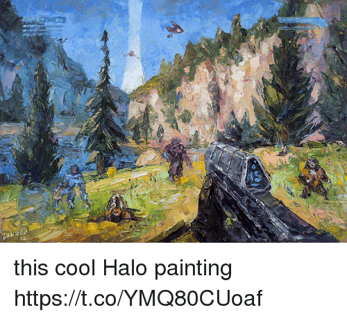 Halo, Cool, and Painting: this cool Halo painting https://t.co/YMQ80CUoaf