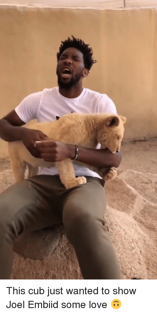Embiid: This cub just wanted to show Joel Embiid some love 🙃