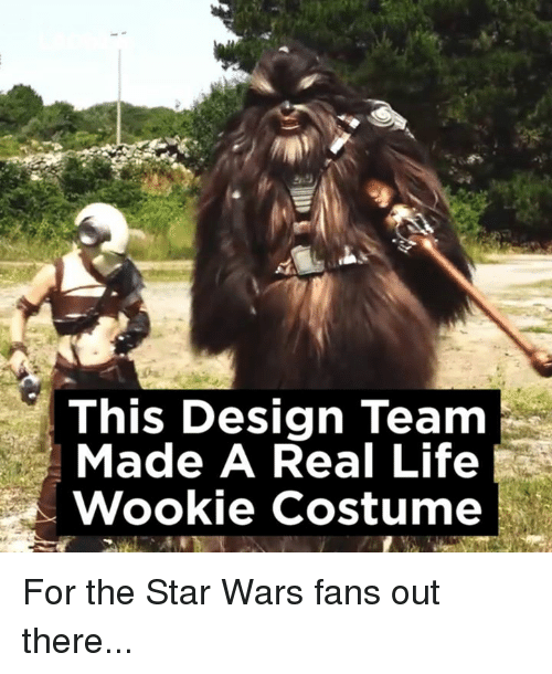 Wooki: This Design Team  Made A Real Life  Wookie costume For the Star Wars fans out there...