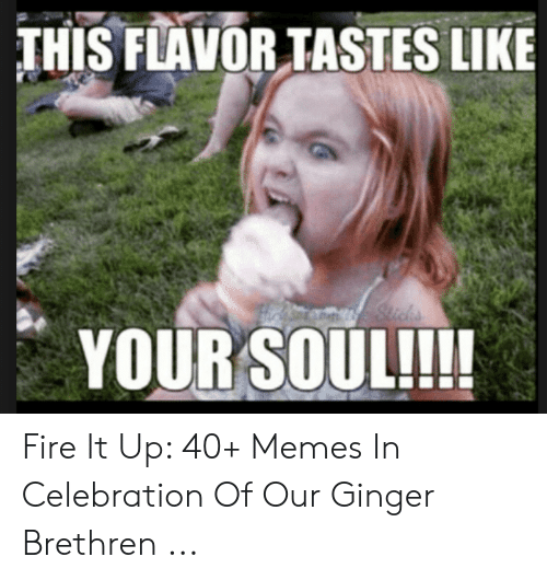 Red Hair Meme: THIS FLAVORTASTES LIKE  YOUR SOUL!!! Fire It Up: 40+ Memes In Celebration Of Our Ginger Brethren ...