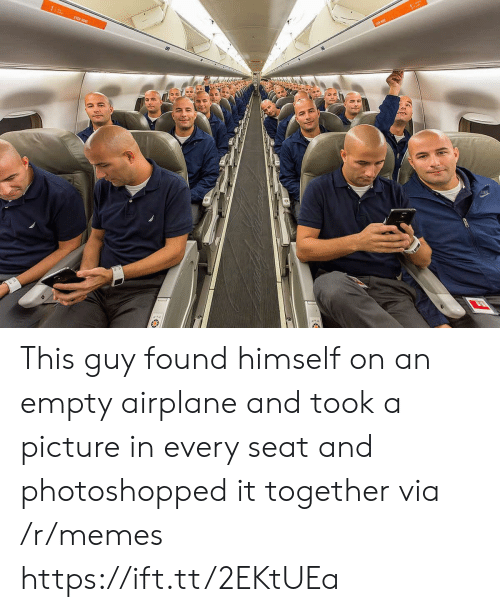 Memes, Airplane, and A Picture: This guy found himself on an empty airplane and took a picture in every seat and photoshopped it together via /r/memes https://ift.tt/2EKtUEa