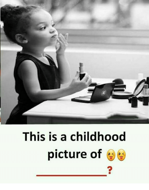 Memes, 🤖, and Picture: This is a childhood  picture of