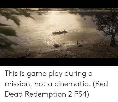 Ps4, Game, and Red Dead Redemption: This is game play during a mission, not a cinematic. (Red Dead Redemption 2 PS4)