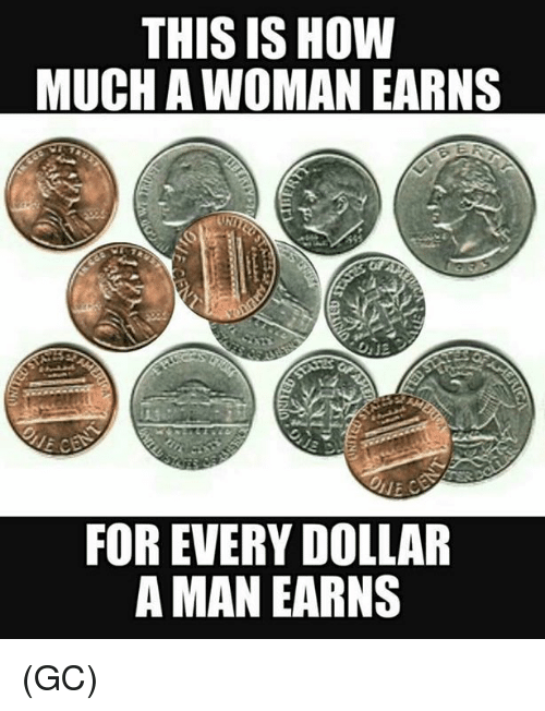 Memes, 🤖, and How: THIS IS HOW  MUCH A WOMAN EARNS  FOR EVERY DOLLAR  A MAN EARNS (GC)