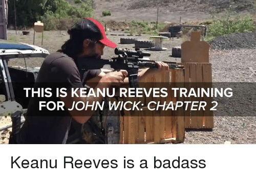 keanu reeve: THIS IS KEANU REEVES TRAINING  FOR JOHN WICK: CHAPTER 2 Keanu Reeves is a badass