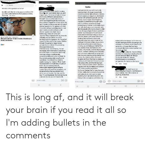 bullets: This is long af, and it will break your brain if you read it all so I'm adding bullets in the comments