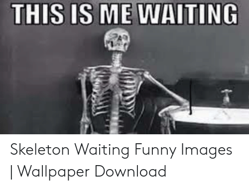 This Is Me Waiting Skeleton Waiting Funny Images Wallpaper
