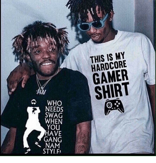 Hardcore Gamer: THIS IS MY  HARDCORE  GAMER  SHIRT  WHO  NEEDS  SWAG  WHEN  YOU  AVE  GANG  NAM  STYLFI