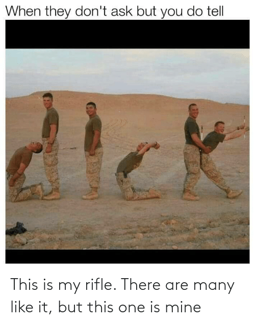 Many: This is my rifle. There are many like it, but this one is mine