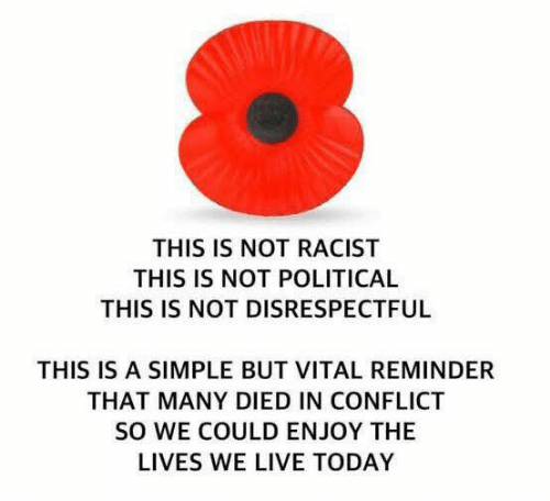 Memes, Live, and Today: THIS IS NOT RACIST  THIS IS NOT POLITICAL  THIS IS NOT DISRESPECTFUL  THIS IS A SIMPLE BUT VITAL REMINDER  THAT MANY DIED IN CONFLICT  SO WE COULD ENJOY THE  LIVES WE LIVE TODAY