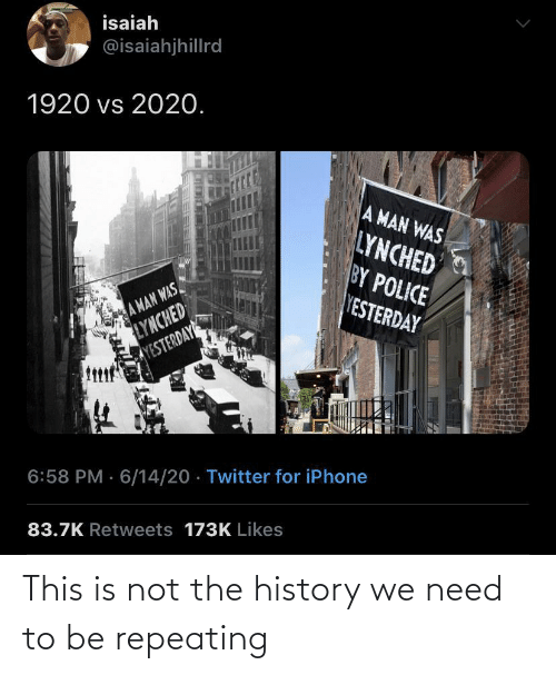 Not: This is not the history we need to be repeating
