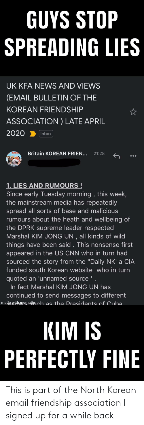 Email: This is part of the North Korean email friendship association I signed up for a while back