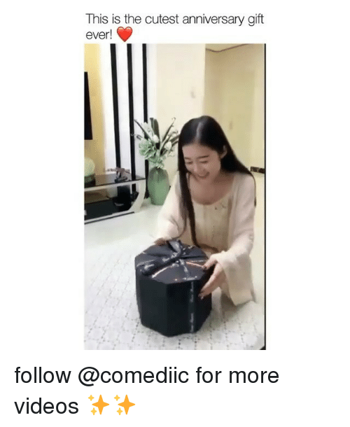Memes, Videos, and 🤖: This is the cutest anniversary gift  ever! follow @comediic for more videos ✨✨