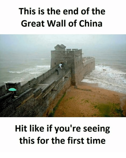 The End Of The Great Wall Of China: This is the end of the  Great Wall of China  Hit like if you're seeing  this for the first time