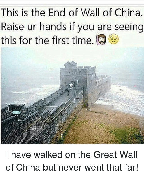 the-great-wall: This is the End of Wall of China.  Raise ur hands if you are seeing  this for the first time. I have walked on the Great Wall of China but never went that far!