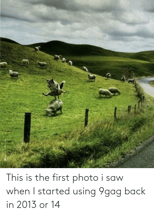 Back In: This is the first photo i saw when I started using 9gag back in 2013 or 14