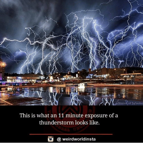 Thunderstorming: This is what an 11 minute exposure of a  thunderstorm looks like.  (a weirdworldinsta