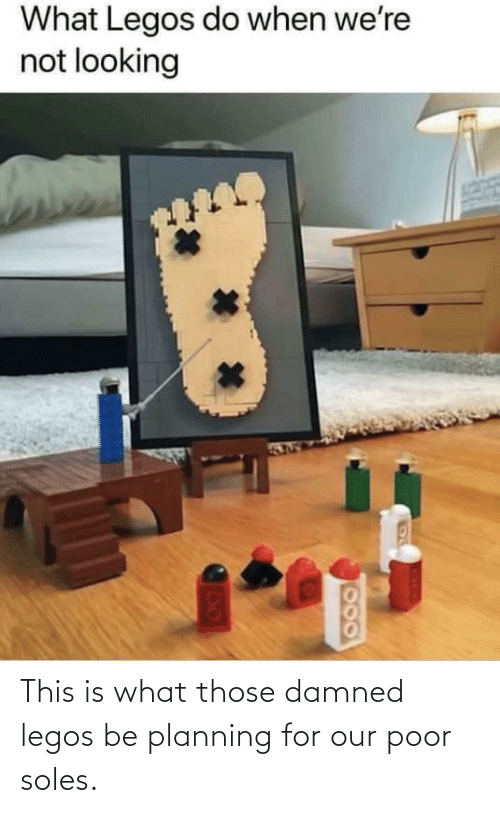 damned: This is what those damned legos be planning for our poor soles.