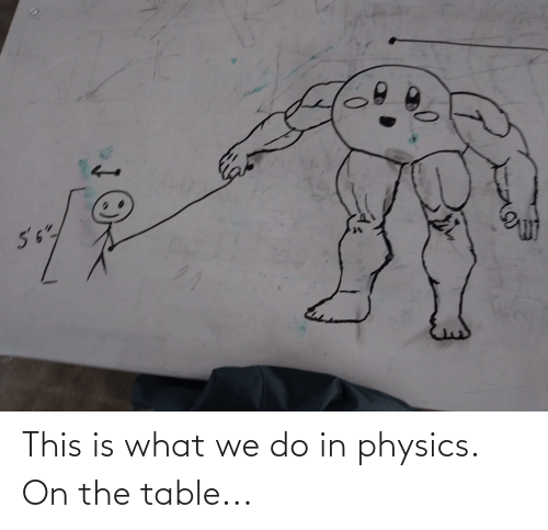 On The Table: This is what we do in physics. On the table...