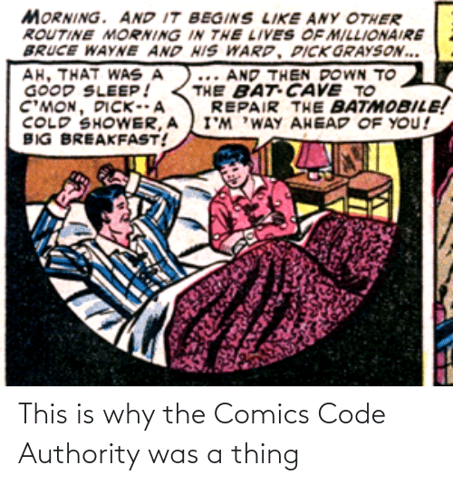 This Is Why: This is why the Comics Code Authority was a thing