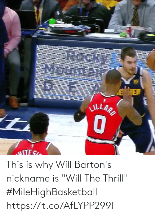"""This Is Why: This is why Will Barton's nickname is """"Will The Thrill""""   #MileHighBasketball   https://t.co/AfLYPP299I"""