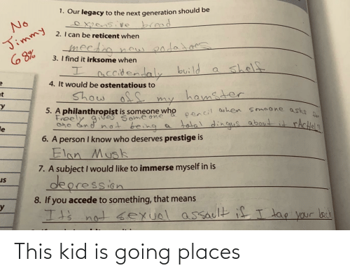 Going Places: This kid is going places
