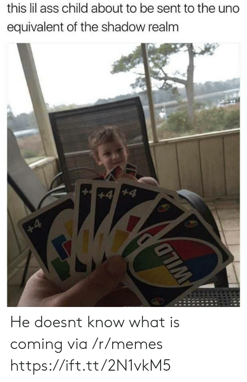 The Shadow Realm: this lil ass child about to be sent to the uno  equivalent of the shadow realm He doesnt know what is coming via /r/memes https://ift.tt/2N1vkM5