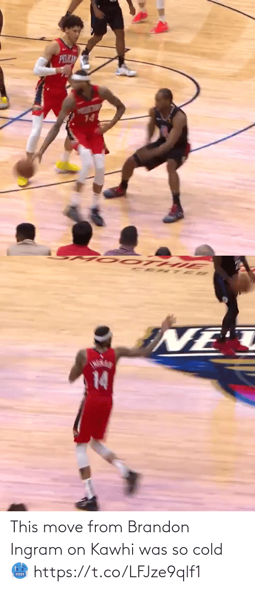 Cold: This move from Brandon Ingram on Kawhi was so cold 🥶 https://t.co/LFJze9qlf1