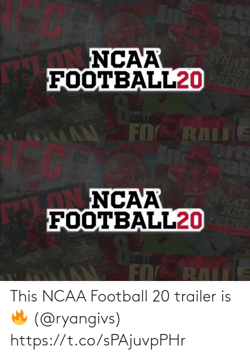 Ncaa: This NCAA Football 20 trailer is 🔥 (@ryangivs) https://t.co/sPAjuvpPHr