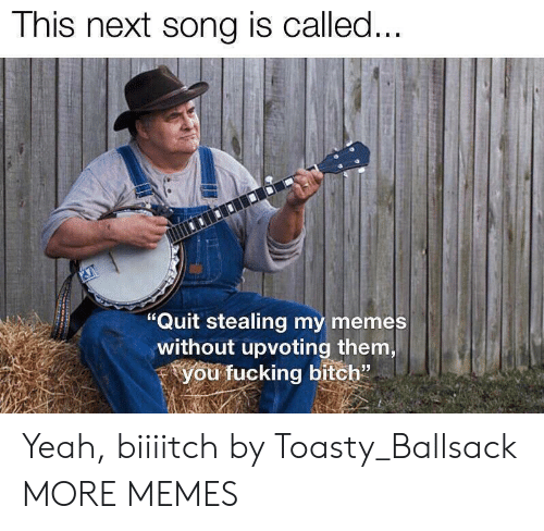 "My Memes: This next song is called...  ""Quit stealing my memes  without upvoting them,  you fucking bitch"" Yeah, biiiitch by Toasty_Ballsack MORE MEMES"