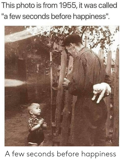"Happiness, Photo, and This: This photo is from 1955, it was called  ""a few seconds before happiness"". A few seconds before happiness"