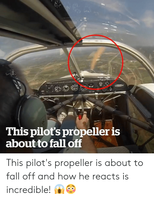Pilots: This pilot's propeller is  about to fall of This pilot's propeller is about to fall off and how he reacts is incredible! 😱😳