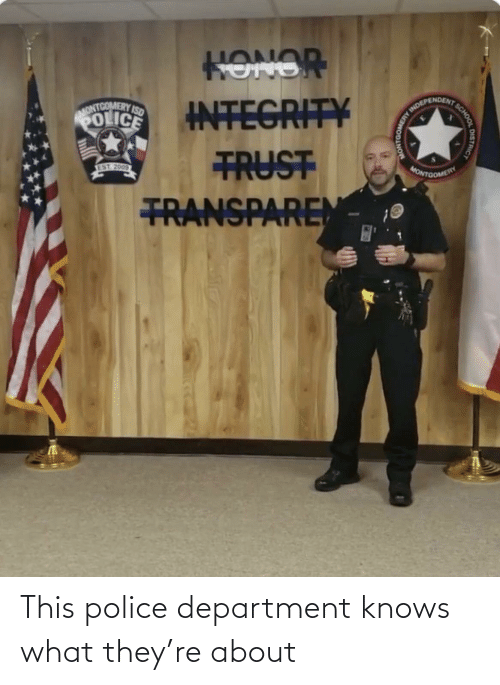 department: This police department knows what they're about