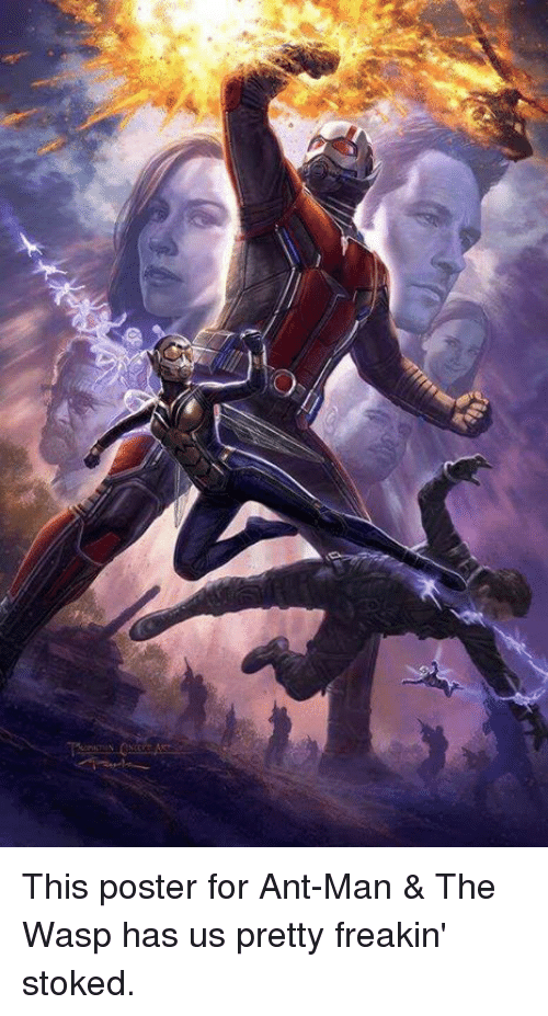 posterized: This poster for Ant-Man & The Wasp has us pretty freakin' stoked.