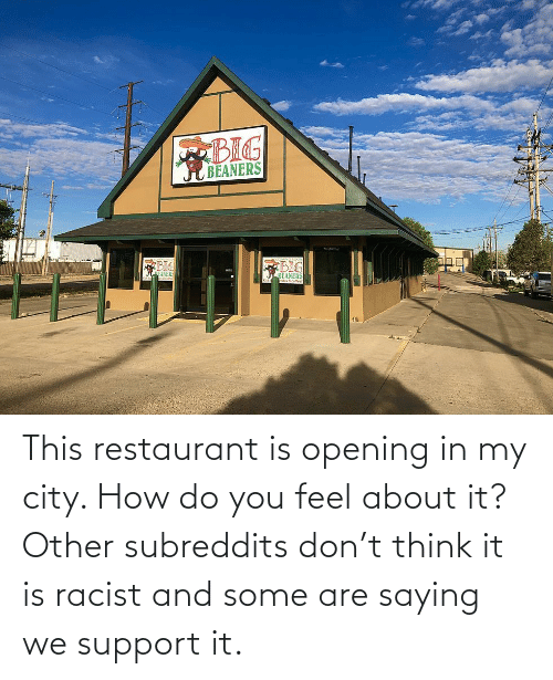 Racist: This restaurant is opening in my city. How do you feel about it? Other subreddits don't think it is racist and some are saying we support it.