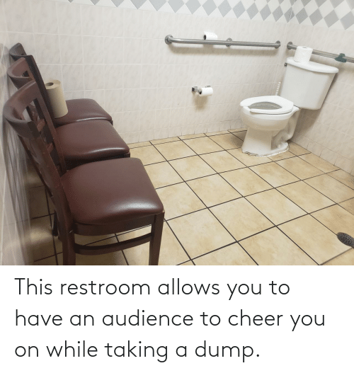 While: This restroom allows you to have an audience to cheer you on while taking a dump.