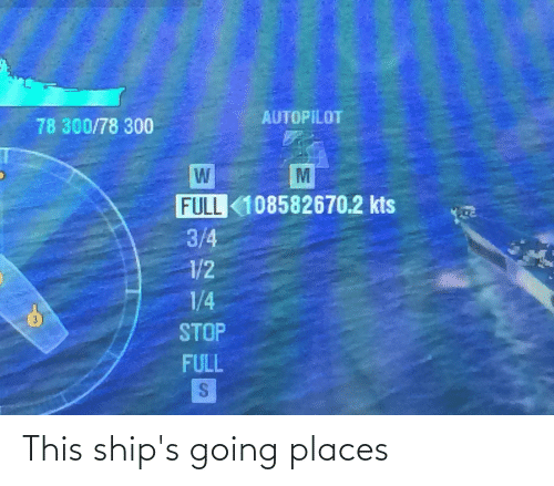Going Places: This ship's going places